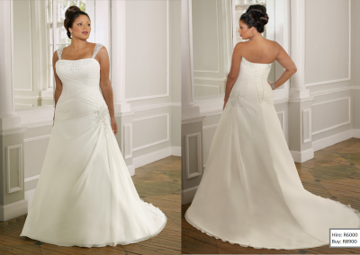 P  Elegant Design Dress A-line Beaded Appliques Plus Size Wedding Gown