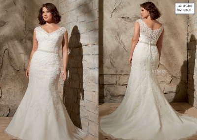P Plus Size Brial Gown with Lace Custom Organza A-line with Crystal Beading