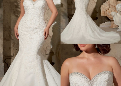 P  Plus Size Formal Mermaid Sweetheart with Appliques Beadings Long Custom-made Wedding Dress