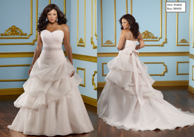 P Sweetheart Ball Gown Bowknot Belt Plus Size Wedding Dress