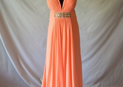 Peach low back with cross straps