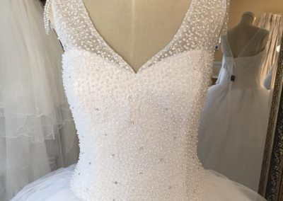 beaded bodice ballgown