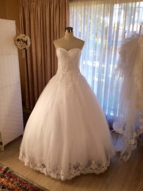lace ball gown full view