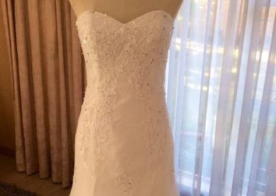 strapless full lace over mermaid half view