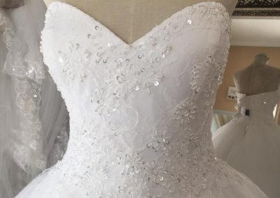 sweet heart lace detail ball gown