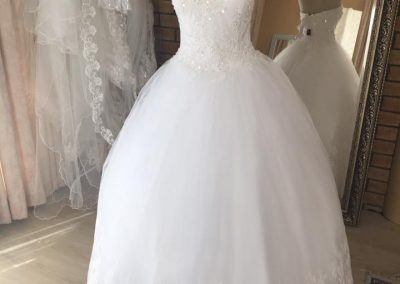 sweet heart lace detail ball gown full view