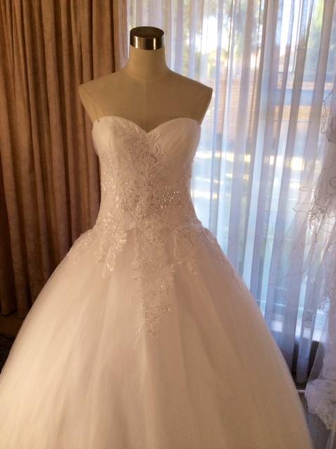 lace ball gown half view